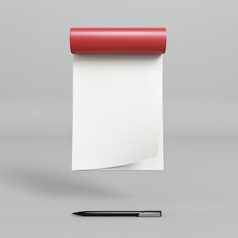 Lavagna a fogli mobili vista frontale con penna
