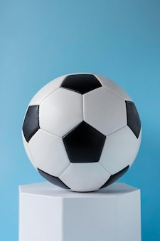 Front view of football and hexagonal shape
