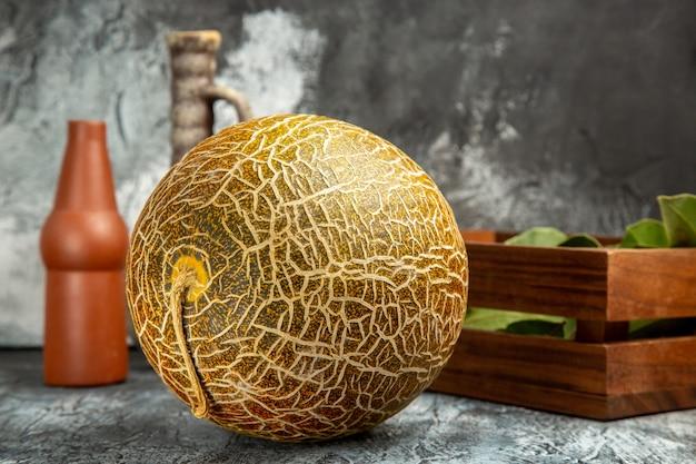 Front view fresh melon on dark-light background