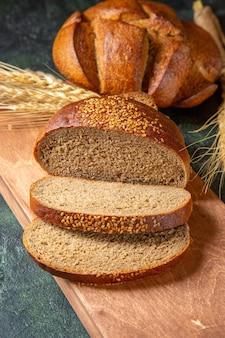 전면보기 신선한 슬라이스 빵