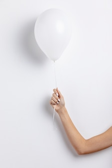 Front view of hand held balloon