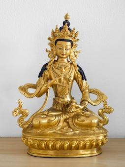 Vista frontale della statuetta hindi