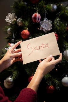 Front view letter for santa claus
