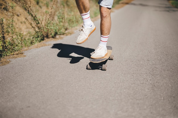 Front view of man on skateboard