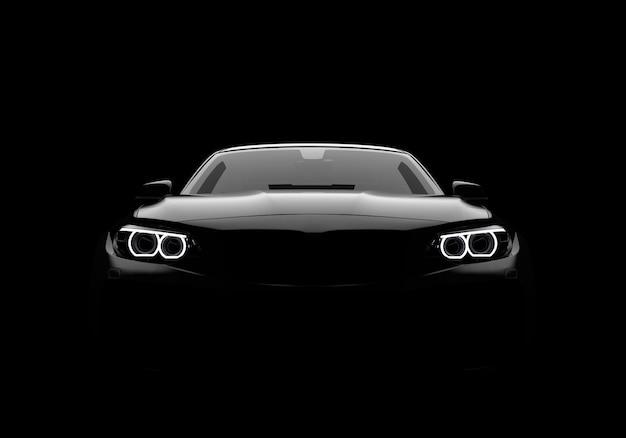 Вид спереди на универсальный современный автомобиль без марки