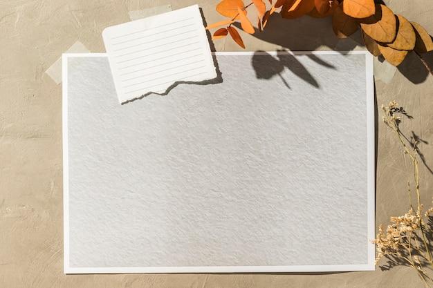 秋のムードボードコンセプトの正面図