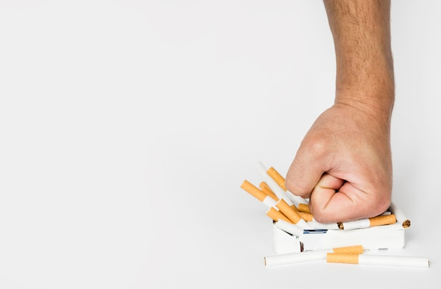 Вид спереди концепции плохой привычки