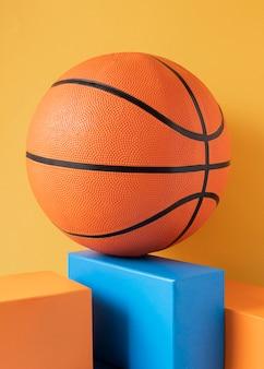농구의 전면보기 프리미엄 사진