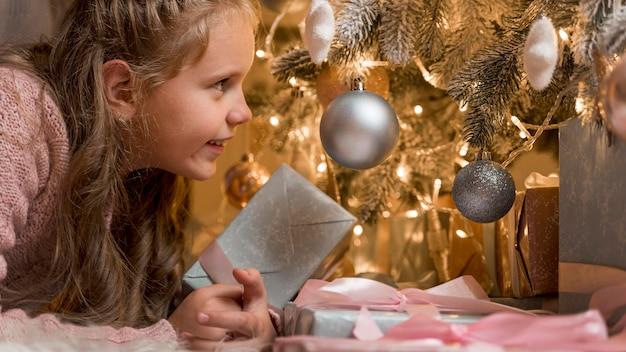 美しいクリスマスのコンセプトの正面図