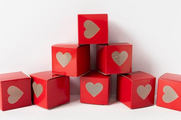 美しいバレンタインデーのコンセプトの正面図