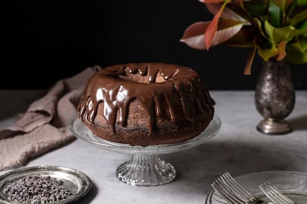 チョコレートケーキコンセプトの正面図
