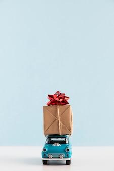 Вид спереди концепции рождественского подарка