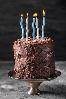 おいしいチョコレートケーキのコンセプトの正面図