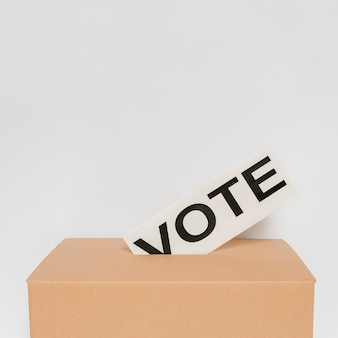 コピースペースと選挙の概念の正面図