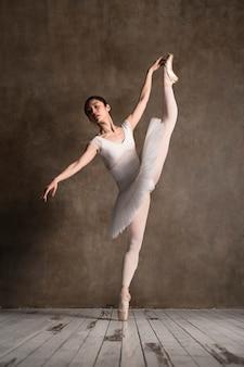은혜로운 발레리나 춤의 전면 모습