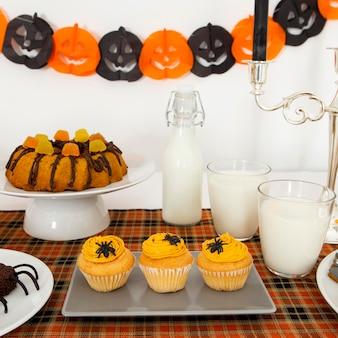 Вид спереди концепции конфет хэллоуин