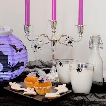 ハロウィーンのお菓子のコンセプトの正面図