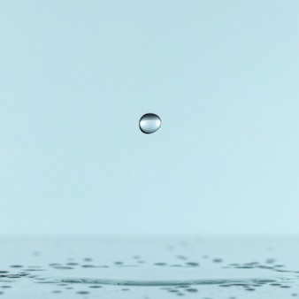 液滴の正面図