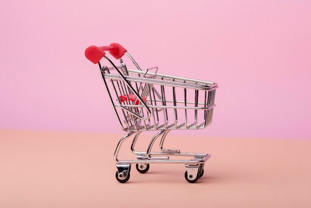 ショッピングカートの正面図