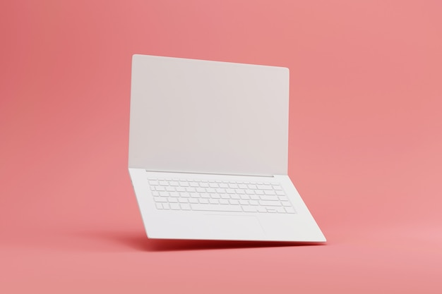 Тонкий ноутбук, вид спереди