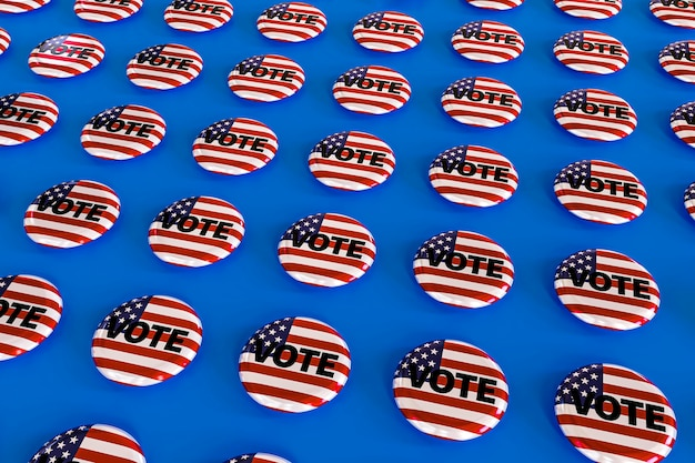 アメリカの選挙の概念の正面図