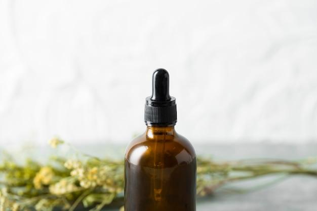 Front view organic body care serum