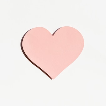 Front view of paper heart shape