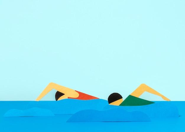 正面図の紙のスタイルのオリンピックの形