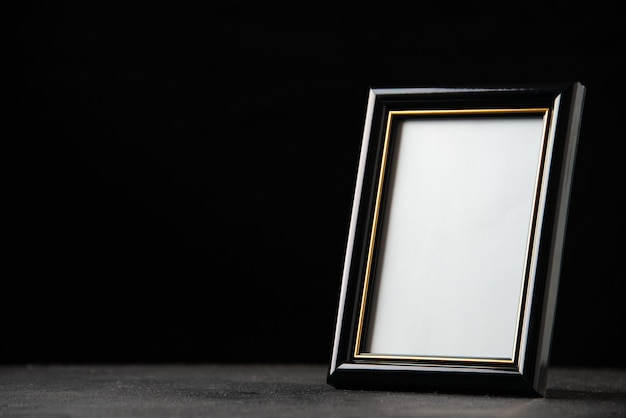 Front view of picture frame on dark