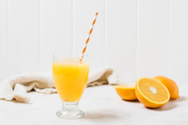 Front view refreshing orange juice