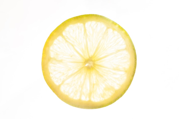 Front view slice of sour lemon