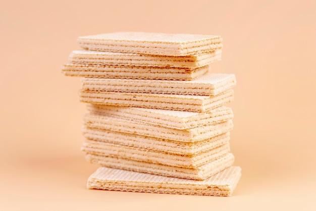 Vista frontale della pila di wafer