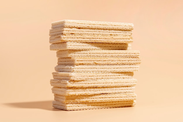 Front view of stack of wafers
