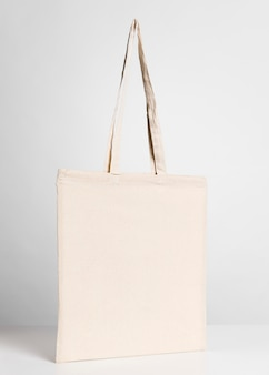 Front view tote bag copy space