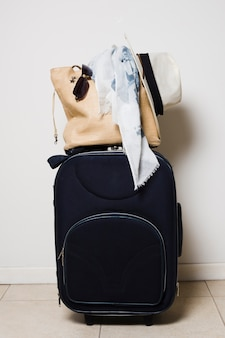 Front view travel baggage