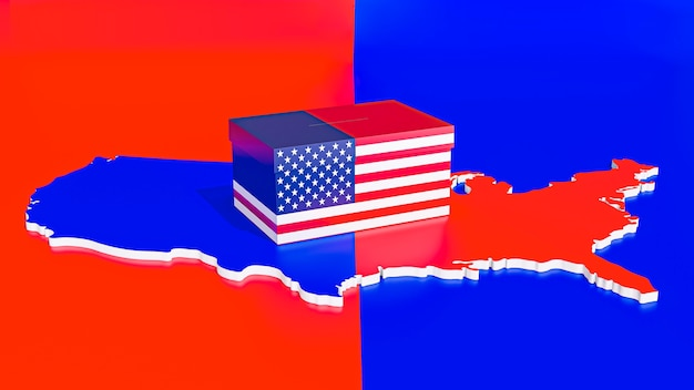 Vista frontale del concetto di elezioni negli stati uniti