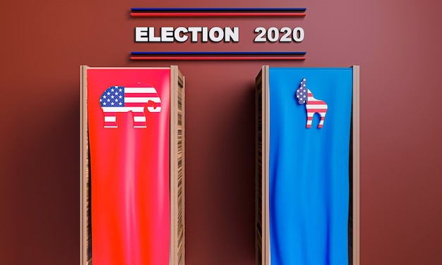 Front view of usa elections concept