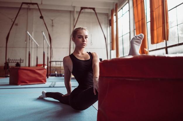체조 올림픽 운동 전면보기 여자