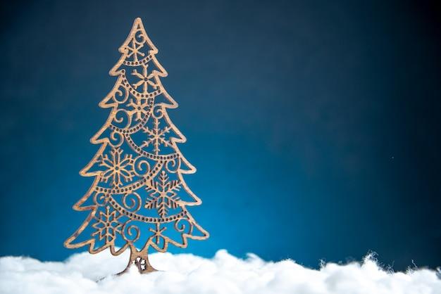 Вид спереди украшение рождественской елки