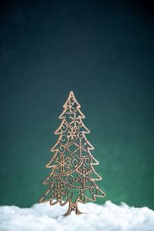Decorazione dell'albero di natale vista frontale x