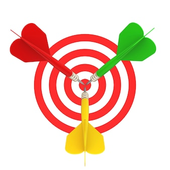 Frontal view of the target darts