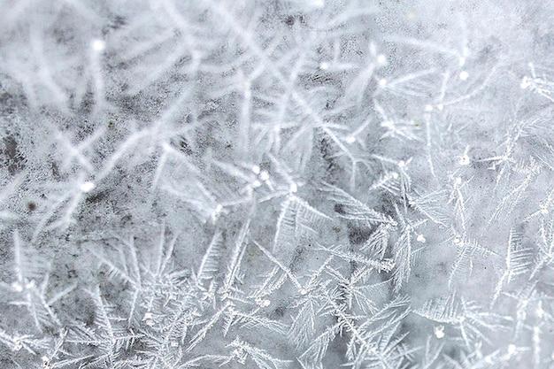 Gelo su una finestra
