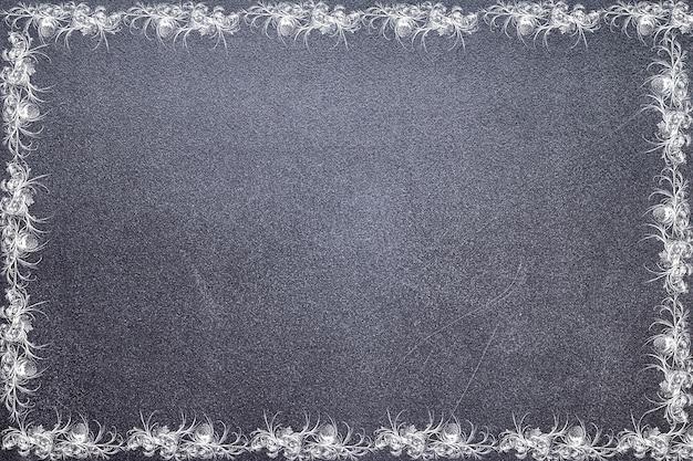 Frosty pattern on the chalkboard