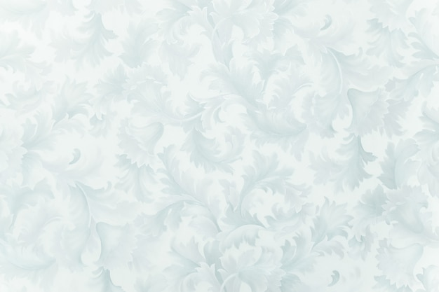 花や葉の形で冷ややかなパターン。冬の背景