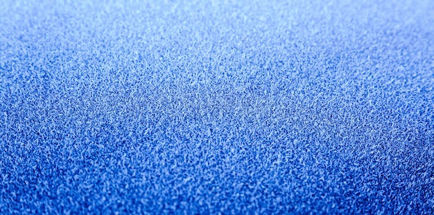 Frozen blue surface of car in the morning