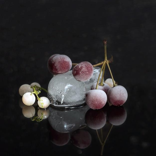 Frozen cherry berries