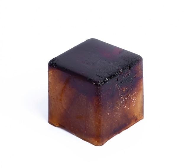 Замороженный кофейный кубик льда
