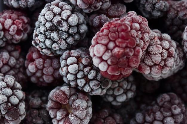 Frozen food, frozen blackberries, frozen berries