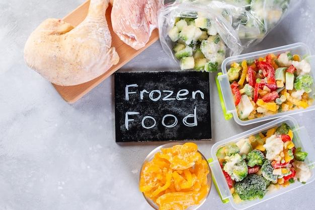 냉동 식품, 야채 및 육류