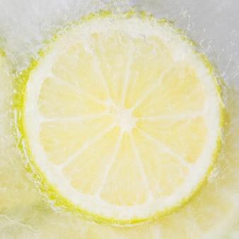 Frozen lemon slice